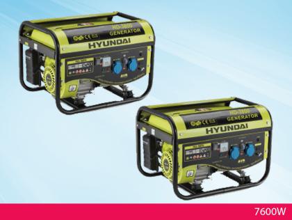 השכרת זוג גנרטורים יונדאי HD 3800